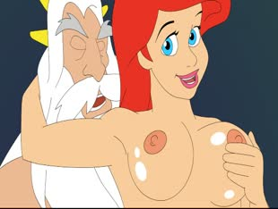 Ariel The Little Mermaid x King Triton Porn