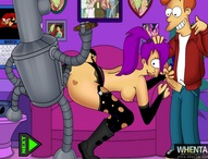 Futurama Leela x Bender x Fry